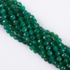 Agat zielony kulka fasetowana 8mm
