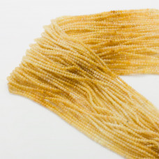 Cytryn kulka fasetowana cieniowana żółta 2mm 32cm