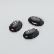 Kaboszon jadeit owal czarny 25x18mm