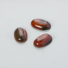 Kaboszon agat karneolowy owal 23x15mm