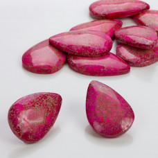 Jaspis cesarski łezka różowy z szarym 40x26mm
