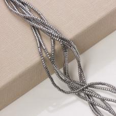 Hematyt platerowany walec srebrny 3x2mm