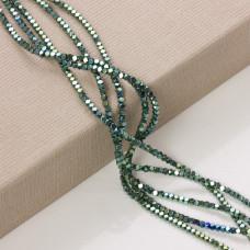 Hematyt platerowany kostka ścięta emerald 3x3mm