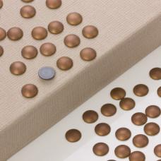 Hematyt platerowany kaboszon krążek brązowy mat 12mm