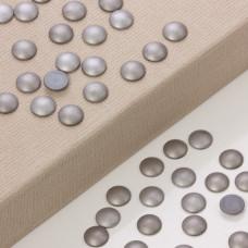Hematyt platerowany kaboszon krążek srebrny mat  12mm