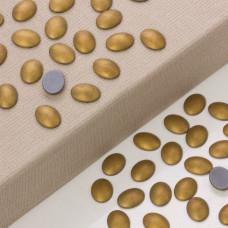 Hematyt platerowany kaboszon owal stare złoto 16x12mm