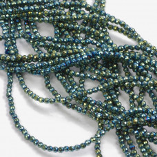 Hematyt kulki fasetowane emerald 2mm