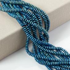 Hematyt oponka fasetowana blue emarald 6x3mm