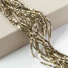 Hematyt kostka platerowana złota 2x2mm