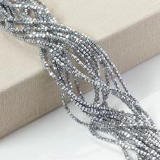 Hematyt wielokąt platerowany srebrny 3mm