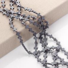 Hematyt krzyż matowy srebrny 10x8mm