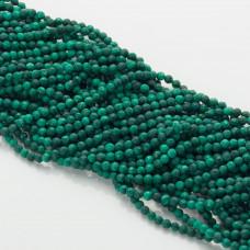 Malachit naturalny kulka fasetowana zielona 3mm