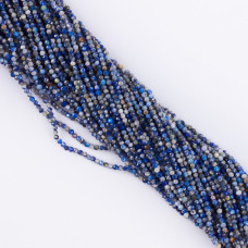 Lapis lazuli kulka fasetowana 1,8mm