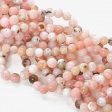 Opal różowy kulka gładka 4-4,5mm
