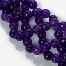 Jadeit marmurkowy kulka fasetowana fioletowa 10mm