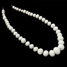 Jadeit oponki fasetowane stopniowane białe 8-20mm