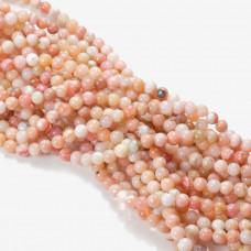 Opal różowy kulka gładka 6-6,2mm