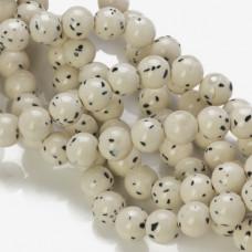 Jadeit marmurkowy kulka gładka biała nakrapiana 10mm