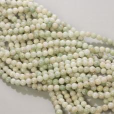 Jadeit marmurkowy kulki szara mięta 6mm