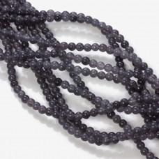 Jadeit marmurkowy kulka gładka ciemna szara 4mm