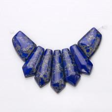 Lapis lazuli zestaw naszyjnika groty