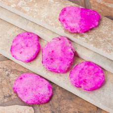 Kryształ górski barwiony różowa zawieszka 58x40mm