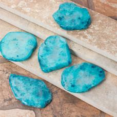 Kryształ górski barwiony zawieszka turkusowa 50-60mm