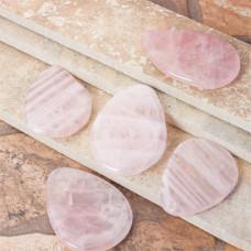 Kryształ górski zawieszka owal różowa 62x46mm