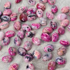 Agat kaboszon owal różowy 18x13mm