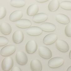 Kocie oko kaboszon owal biały 18x13mm