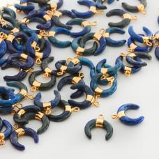 Róg obfitości z lapis lazuli zawieszka 18mm