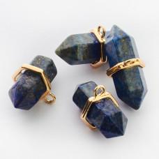 Zawieszka lapis lazuli w okuciu 36x13mm