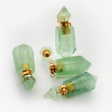 Zawieszka perfumetka z jadeitu odkręcana 40x15mm
