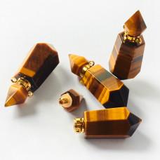 Zawieszka perfumetka z tygrysiego oka odkręcana 43x15,5mm