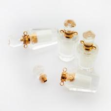 Zawieszka perfumetka z kryształu górskiego odkręcana 35x16mm