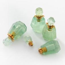 Zawieszka perfumetka z jadeitu odkręcana 37x20mm