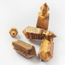 Zawieszka perfumetka z jaspisu krajobrazowego odkręcana 41x15,5mm