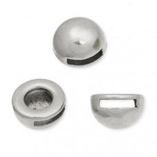 Koralik półkole małe kolor srebrny 13mm