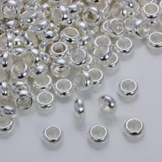 Gładka przekładka w srebrnym kolorze 10mm