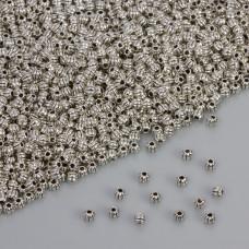 Koralik nacinany w kolorze ciemnego srebra 3.5mm