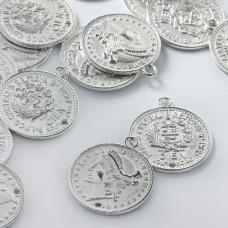 Metalowa zawieszka moneta 25mm