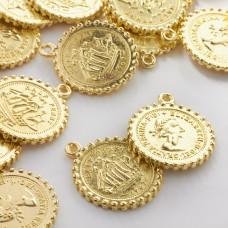 Metalowa zawieszka moneta duża 27mm