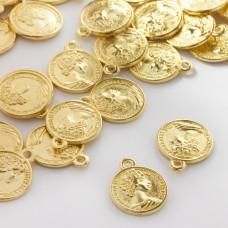 Metalowa zawieszka moneta z księżną 16mm