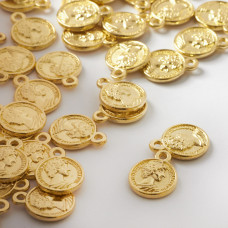 Zawieszka metalowa moneta z cezarem 12mm