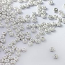 Koraliki metalowe oponki rowkowane 4,5mm