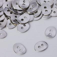 Koralik z dwoma dziurkami koloru srebrnego 13,5x10,5mm