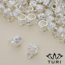 Krawatka ze wzorkiem w srebrnym kolorze 4.5mm