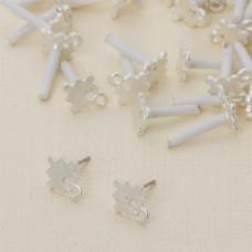 Kolczyki puzzle z oczkiem 13 mm