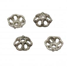 Metalowe nakładki kwiatki 10mm