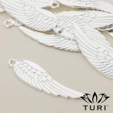 Zawieszka anielskie skrzydło w srebrnym kolorze 69x19.5mm